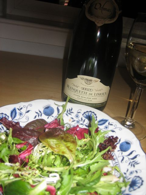 Wine by France, Greens by Earthbound Farm